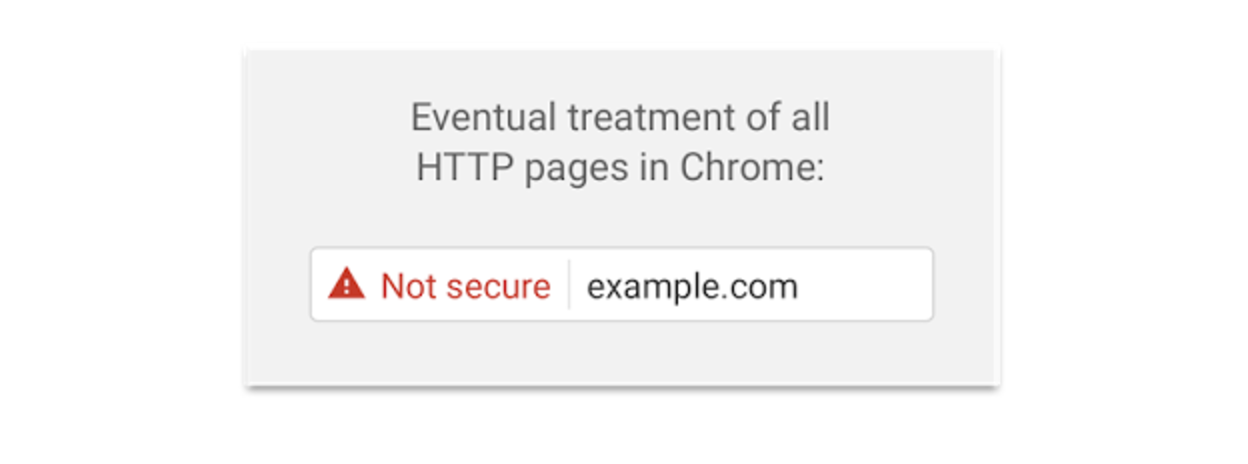 Google Chrome Not Secure Warning Phase 2